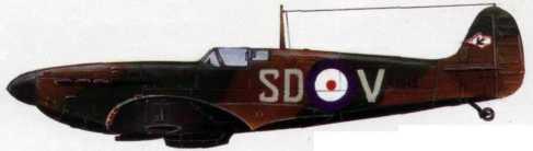 Истребитель «Спитфайр» Мк. I из 72-й эскадрильи RAF (1939г.)