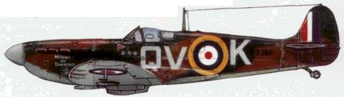 «Спитфайр» Мк. IA капитана Коули (пошб в феврале 1940г.).