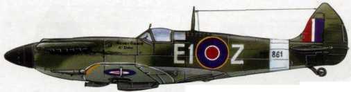 «Спитфайр» Мк. XII майора Генри О'Хигтенса. 16 повел. (Ньюкасл. Фарнворо. 1943-45гг.)