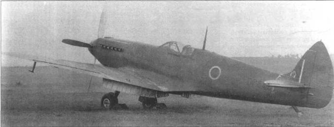 DP845 осенью 1942 года во время испытаний в Боском- Даун. В это время самолет вместо убирающегося хвостового колеса получил обычное фиксированное колесо.