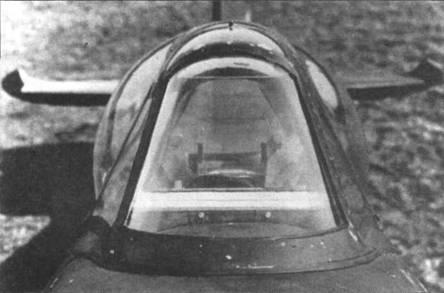 Выпуклое лобовое стекло прототипа «Спитфайра 21». Такие фонари испытывались на «Спитфайре VIII» (JF299), позднее на прототипах Мк.21, а после войны их ставили на серийных «Сифайрах XVII».