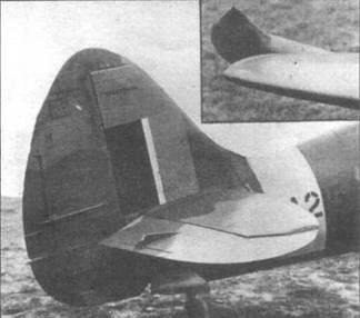 Слишком чувствительные рули на Мк.21 удалось очень быстро привести в норму. Потребовалось лишь изменить форму углового балансира на руле высоты. На LA281 (слева) еще старое оперение, а на LA215 — новое.