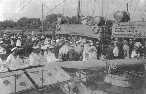 """На палубе """"Генерала Кондратенко"""". Копенгаген, 13 сентября 1912 г."""