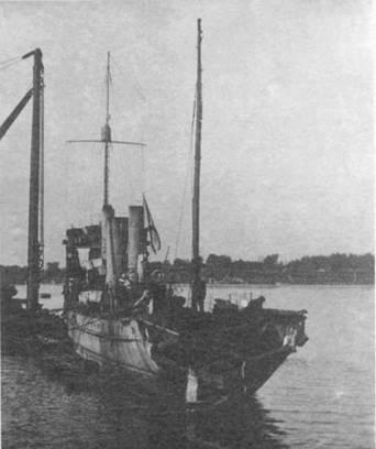 """Эскадренный миноносец """"Донской Казак"""" после подрыва на мине. Август 1916 г."""