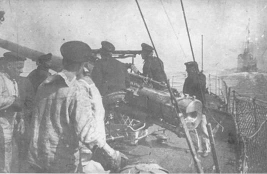 Во время артиллерийских стрельб.