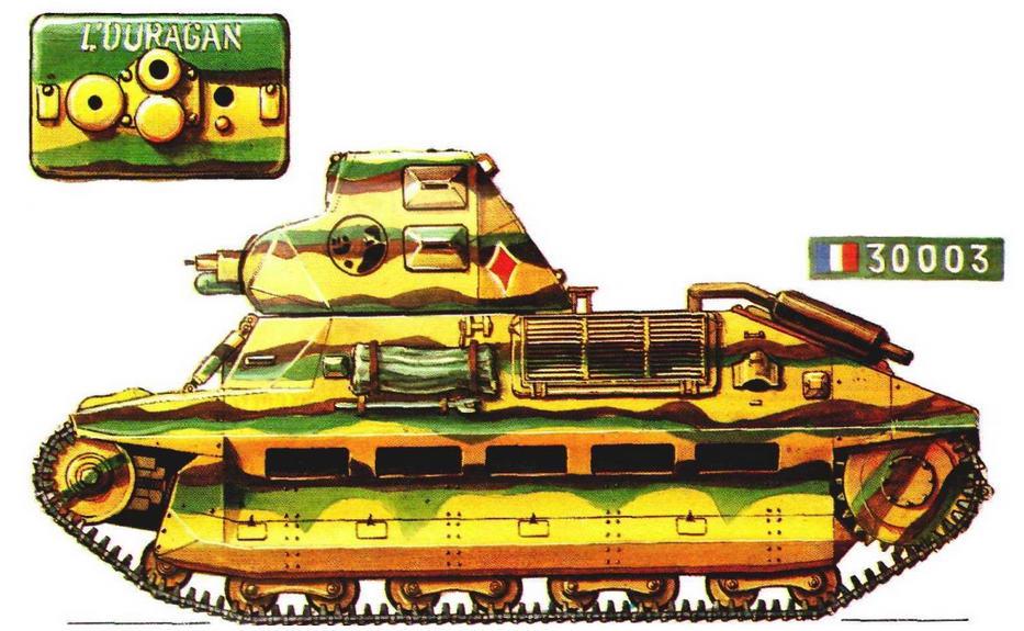 Легкий танк FCM36 L'Ouragan («Ураган»). 7-й <a href='https://arsenal-info.ru/b/book/348132256/10' target='_self'>танковый батальон</a> (7 BCQ 503-го танкового полка (503 RCC), Франция, сентябрь 1939 г.