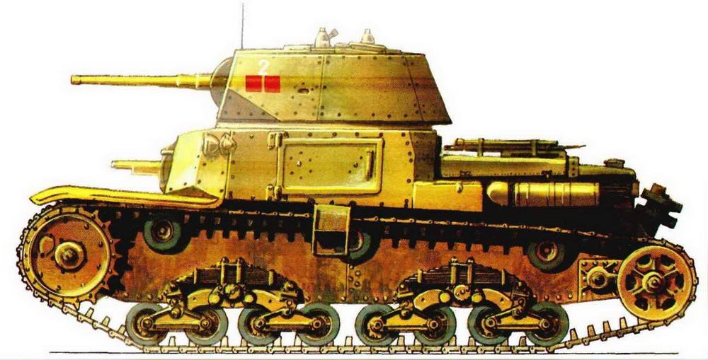 Средний танк MI3/40. 132-й танковый полк танковой дивизии «Ариэте» (Ariete), Северная Африка, 1941 г.