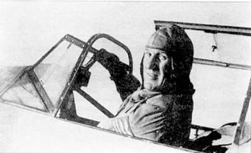 Подполковник Карл Шумахер в кабине его Bf 109Е