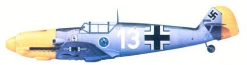 Bf 109Е фельдфебеля Гейнца Вера из 1./ JG 51, сентябрь 1940