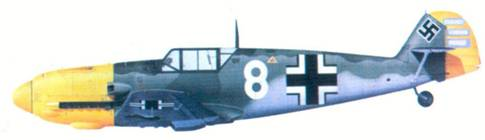 Bf 109Е командира I./ JG 53 гауптмана Ганса-Карла Маера, сентябрь 1940