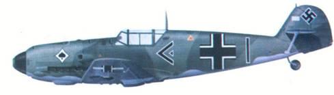 Bf 109Е командира III./ JG 53 гауптмана Вернера Мельдерса, март 1940