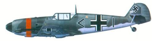Bf 109Е командира III./ JG 53 гауптмана Гарро Хардера, август 1940