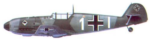 Bf 109Е комэска 7./ JG 53 оберлейтенанта Вольфа-Дитриха Вильке, октябрь 1939