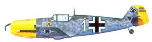 Bf 109Е-4 комэска 4./ JG 54 оберлейтенанта Ганса Филиппа, октябрь 1940