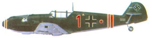 Bf 109Е-1 комэска 2./ JG 77 гауптмана Ханнеса Траутлофта, сентябрь 1939