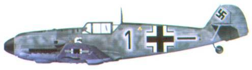Bf 109Е фельдфебеля Роберта Менге из 5./ JG 77, август 1940