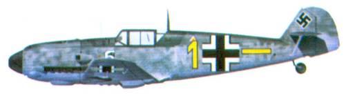 Bf 109Е комэска 6./ JG 77 оберлейтенанта Вильгельма Морица, сентябрь 1940