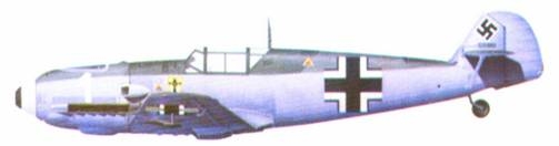 Bf 109Е-4 комэска 1 ./JG 1 гауптмана Вильгельма Бальтазара, май 1940