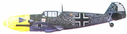 Bf 109Е-4 командира I./JG 2 «Richthofen» гауптмана Гельмута Вика, октябрь 1940