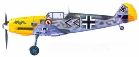 Bf 109Е-4 командира I./ JG 3 гауптмана Ганса фон Хана, Коломберт, август 1940