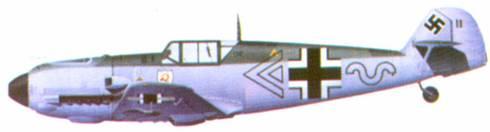 Bf 109Е командира III./ JG 2 майора Эрика Микса, Франция, май 1940