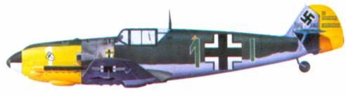 Bf 109Е-4 командира III./ JG 3 гауптмана Вильгельма Бальтазара, август 1940