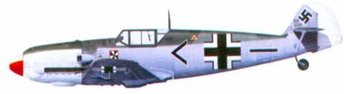 Bf 109Е-4 адъютанта II./ JG 3 оберлейтенанта Франца фон Верра, Самюр, август 1940