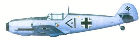 Bf 109E-4 командира I./ JG 20 гауптмана Ханнеса Траутлофта, март 1940