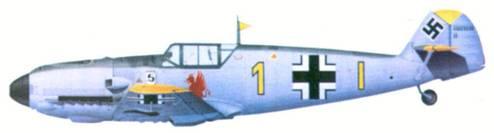 Bf 109Е-4 комэска 9./' JG 26 оберлейтенанта Герхарда Чопеля, август 1940