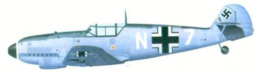 Bf 109D комэска 10.(N)/ JG 26 оберлейтенанта Йоханса Стейнхоффа, декабрь 1939