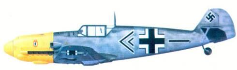 Bf 109Е-4 командира II./ JG 27 гауптмана Вольфганага Липперта, Сентябрь 1940