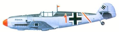 Bf 109Е-1 комэска 2./ JG 27 оберлейтенанта Герда Фрамма, январь 1940
