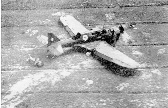 PZL Р.23 «Карась» из разведывательной эскадрильи польских ВВС, сбитый над Восточной Пруссией.
