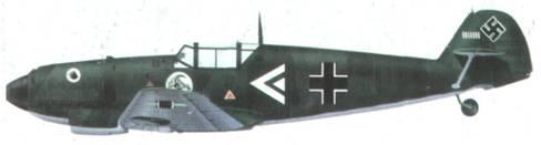 Bf 109D гауптмана Ханнеса Генцена из Jagdgruppe 102 (I/ZG 2), октябрь 1939