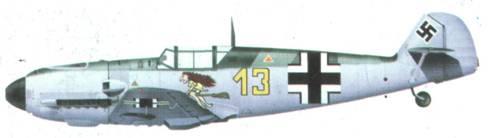 Bf 109Е фельдфебеля Курта Уббена из 6./TrGr. 186, март 1940