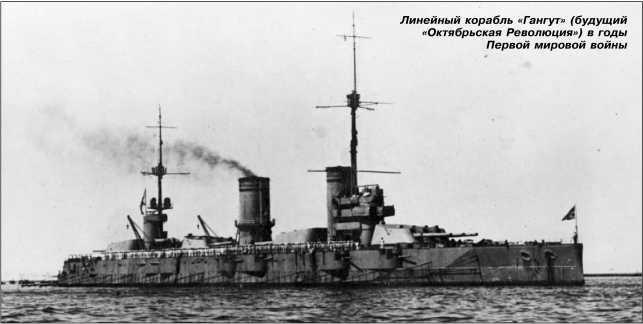 Линейный корабль «Гангут» (будущий «Октябрьская Революция») в годы Первой мировой войны.