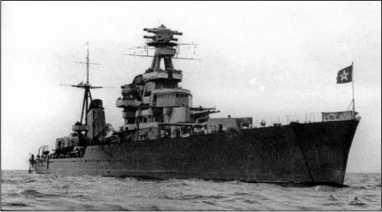Крейсер «Киров», предвоенное фото.