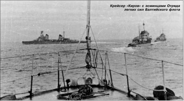 Крейсер «Киров» с эсминцами Отряда легких сил Балтийского флота.