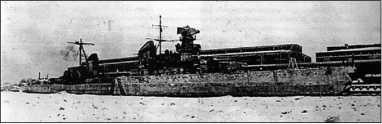 «Максим Горький» у стенки Торгового порта, зима 1941/42г.