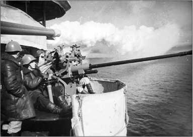 «Баку» ставит дымовую завесу, 1943