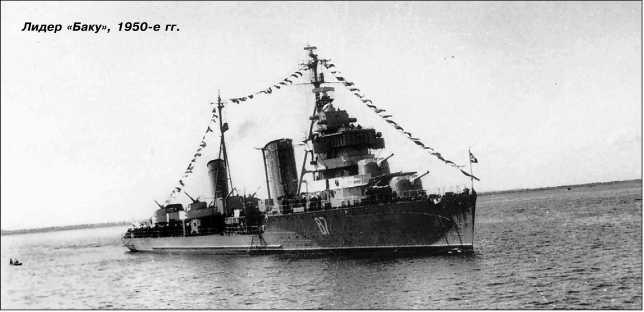 Лидер «Баку», 1950-е гг.