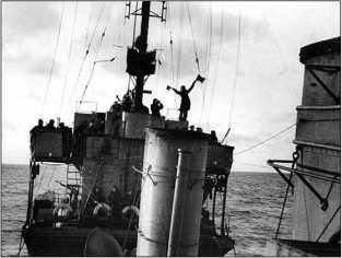 Вид на носовую надстройку эсминца «Незаможник», 1944–1945гг.