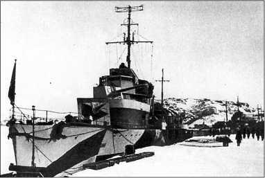 «Гремящий» у причала, начало 1943г.
