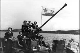 Гвардейский военно-морской флаг эсминца «Гремящий».