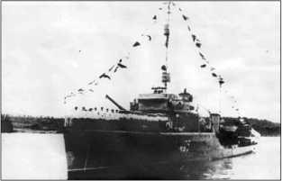 Сторожевой корабль «Метель» после войны.