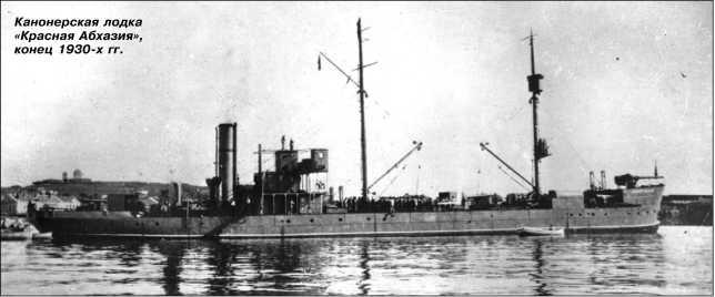 Канонерская лодка «Красная Абхазия», конец 1930-х гг.