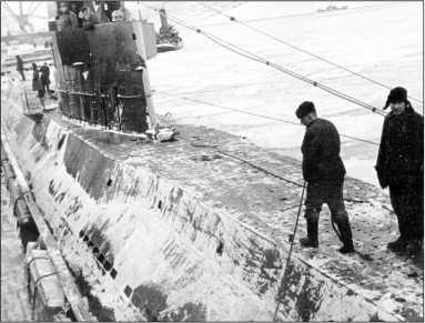 «Д-3» в Полярном, зима 1941/42