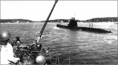Щ-303 у побережья Финляндии, конец 1944г.— начало 1945г.