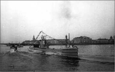 Щ-303 на Неве после окончания войны.