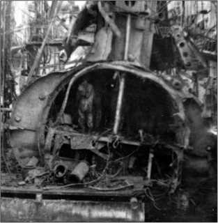 Щ-323 после подъема, 1944г.